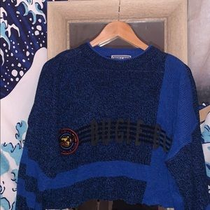 Vintage 80's and 90's cropped Bugle Boy Sweater